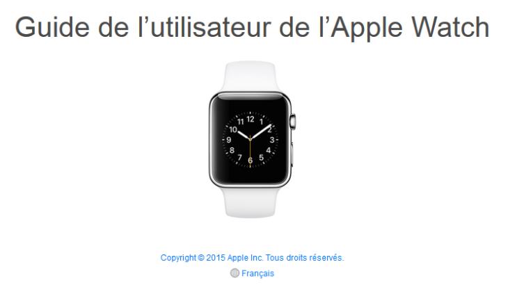 Le guide Apple Watch officiel est disponible en ligne