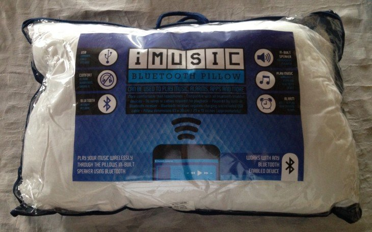 Test : Oreiller iMusic Bluetooth blanc