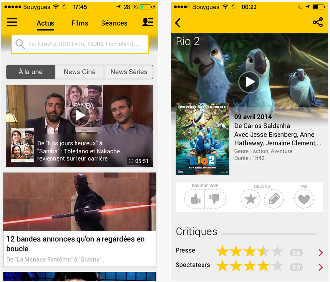 AlloCiné : nouveau lecteur vidéo & support d'AirPlay