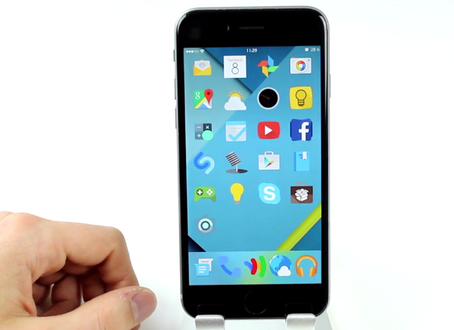 AndriOS, Android Lollipop sur iPhone (Thème Cydia iOS 8)
