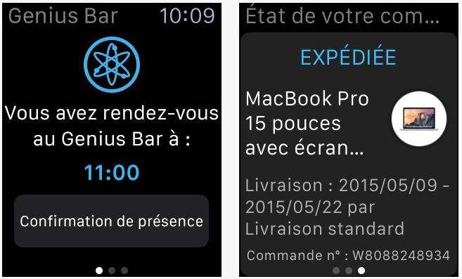 L'application Apple Store est disponible sur l'Apple Watch