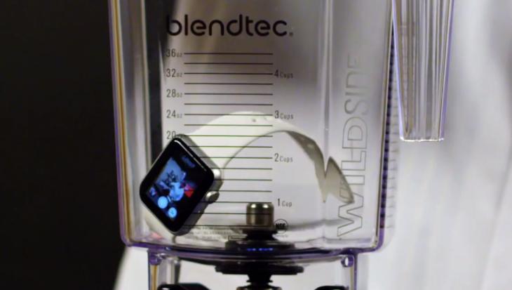 L'Apple Watch Sport soumise au test du mixeur