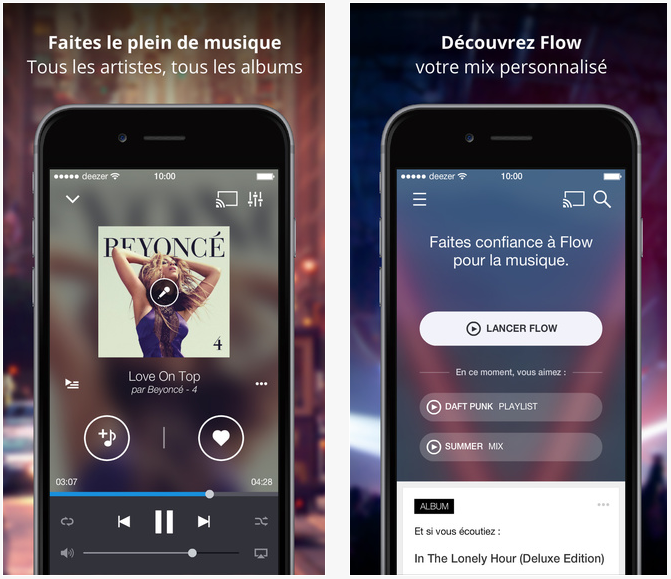 Deezer Music : nouvelle application iPad & ajout des podcasts