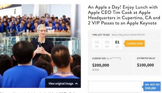 Dejeuner-Tim-Cook-Encheres-200000-Dollars