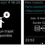 SNCF : de nouvelles fonctionnalités & une version Apple Watch