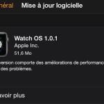 Apple Watch : première mise à jour (Watch OS 1.0.1) disponible