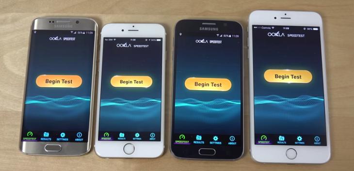 iPhone 6 vs Galaxy S6 : test de rapidité Internet (vidéo)