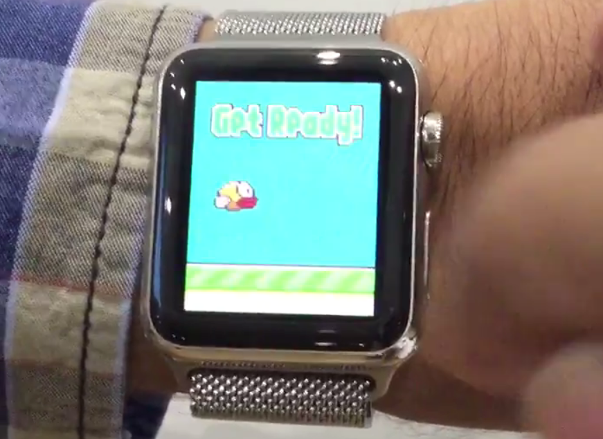 Flappy Bird Apple Watch - Apple Watch : un clone de Flappy Bird déjà fonctionnel (vidéo)