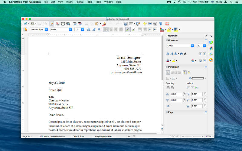 LibreOffice Mac