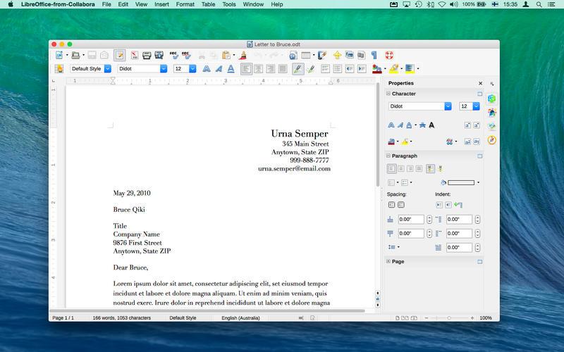 LibreOffice Mac - La suite bureautique LibreOffice est disponible sur Mac