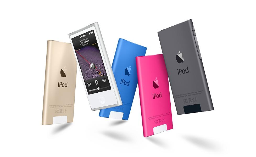 Apple-iPod-nano-or-argent-bleu-rose-gris-sidéral