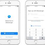Messenger permet de s'inscrire sans compte Facebook sur iOS