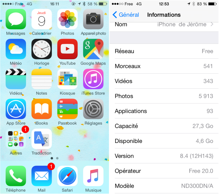 Free Mobile : la 4G disponible sur l'iPhone 5 à Montpellier