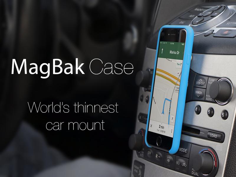 MagBak Coque - MagBak : une coque pour attacher son iPhone 6 partout