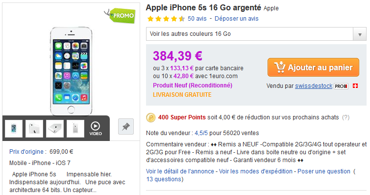 PriceMinister iPhone 5S soldes - Soldes : un code promo PriceMinister pour acheter iPhone et iPad