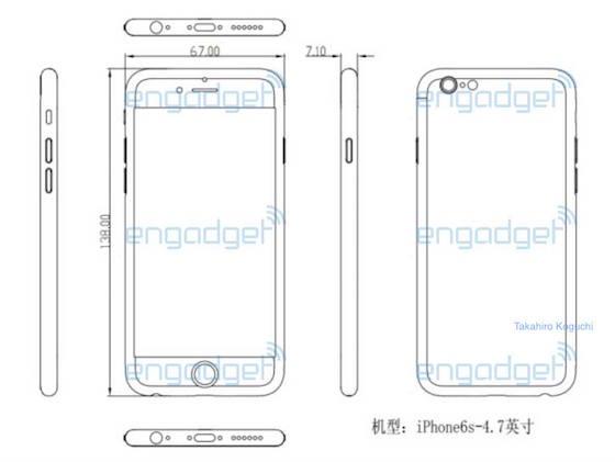 iPhone 6S : nouveau schéma, forte ressemblance avec l'iPhone 6