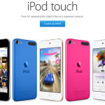 Apple Store : iPod Touch 6G disponible, prix dès 239 euros