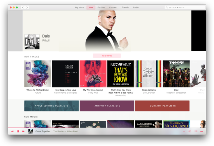 Apple Music : un concept d'application à part entière sur Mac