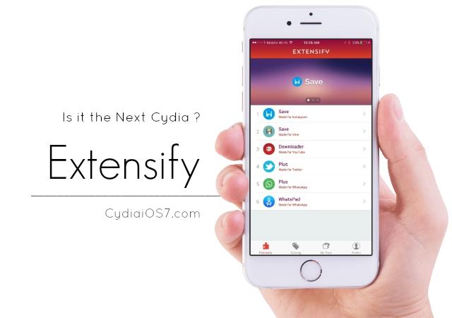 Extensify - Extensify : le futur Cydia pour iPhone & iPad, sans jailbreak ?