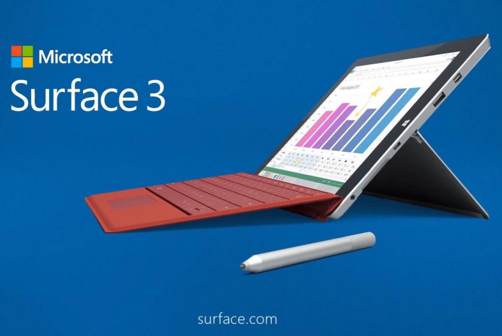 Microsoft Surface 3 1024x686 - Test & concours : la tablette Microsoft Surface 3 à gagner !