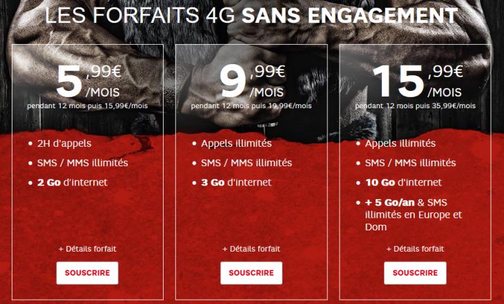 SFR RED : nouvelles journées guerrières, 3 forfaits 4G en promo