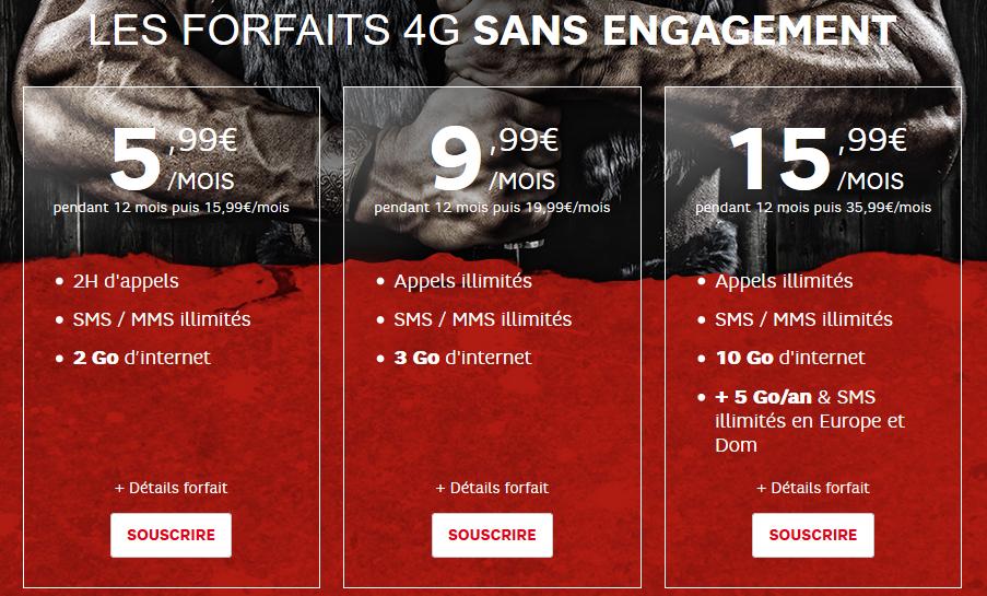 SFR journees guerrieres Forfaits 4G 2015 - SFR RED : nouvelles journées guerrières, 3 forfaits 4G en promo