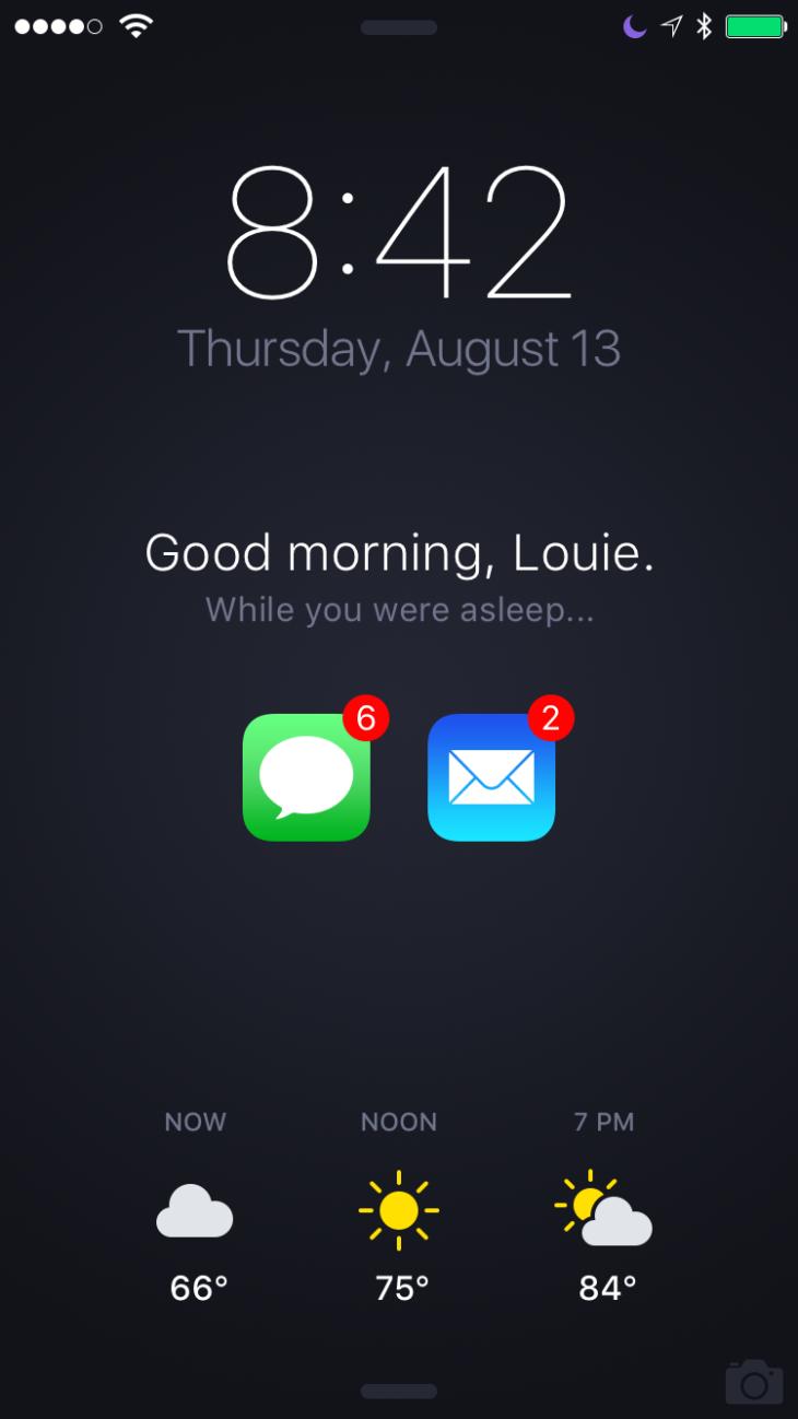 Concept : l'écran de verrouillage de l'iPhone repensé