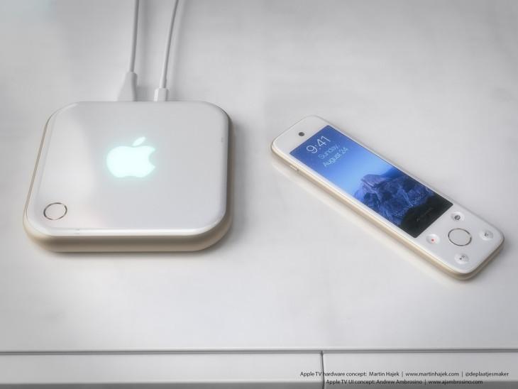 Apple TV 4 : concept avec une télécommande dotée d'un écran