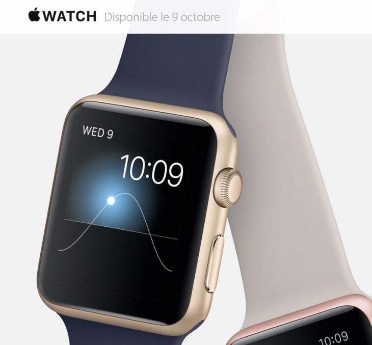 Apple Watch : sortie en Belgique le 9 octobre