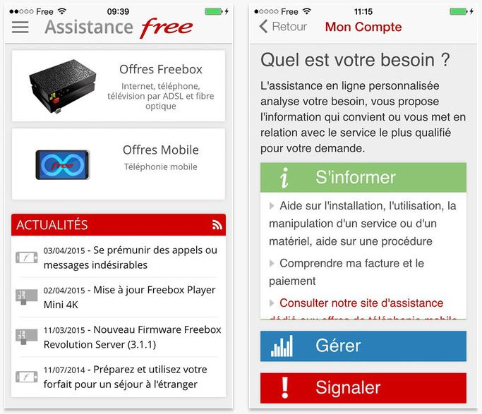 Free lance son service Face to Free sur iPhone & iPad