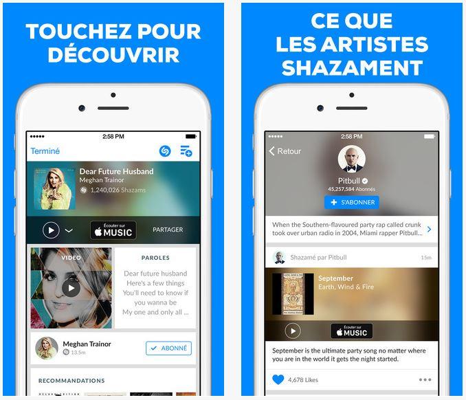 Shazam propose de Shazamer sans connexion sur iOS