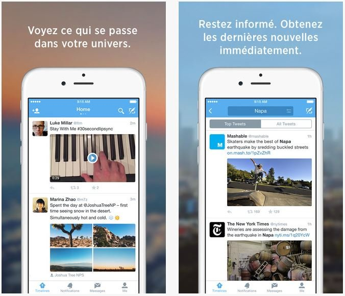 Twitter iOS 9 - Twitter : compatibilité iOS 9 & support des liens universels