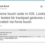 iPhone 6S : une référence au Force Touch dans le code d'iOS 9
