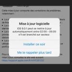 iOS 9 propose de programmer l'installation des mises à jour