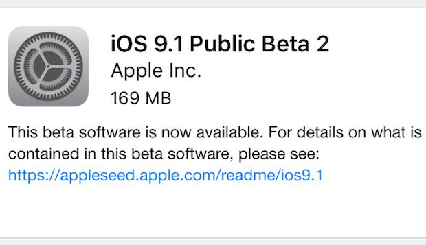 ios 9 1 beta publique 2 - iOS 9.1 : bêta 2 publique disponible