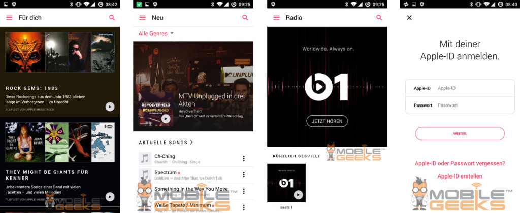 Apple Music android 02 1024x420 - Apple Music sur Android se dévoile en images