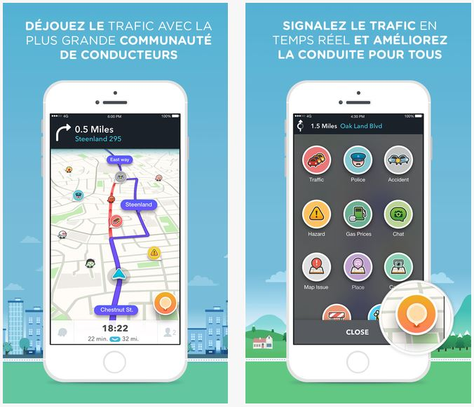 Waze GPS : nouveau design sur iPhone, iPad & iPod Touch