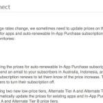 App Store : hausse des prix des applications & achats in-app dans 3 pays