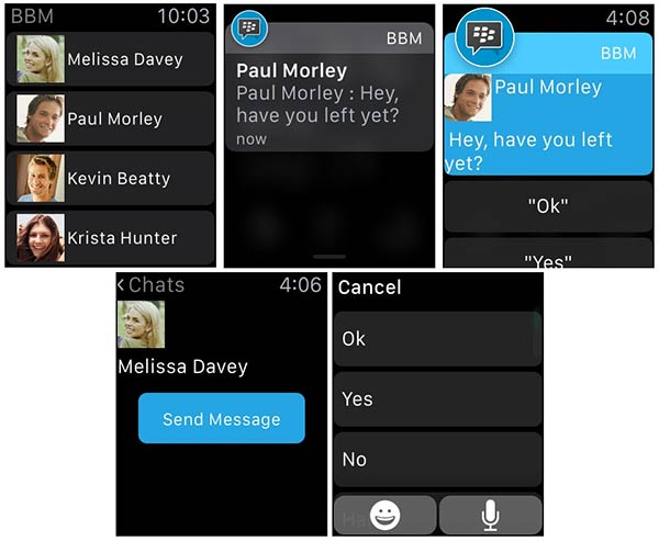 Blackberry : BBM disponible sur Apple Watch & compatible iOS 9