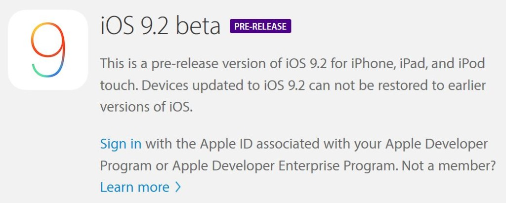 iOS 9.2 beta 1 1024x411 - Apple propose iOS 9.2 bêta 4