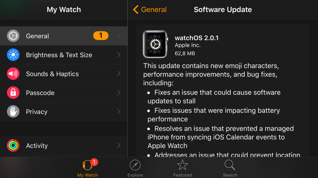 watchOS 2.0.1 1024x576 - Apple Watch : watchOS 2.0.1 est disponible
