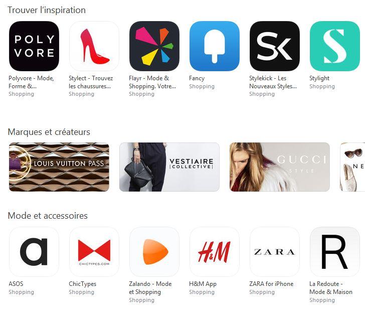 App Store categorie Shopping - Apple ajoute une catégorie Shopping à l'App Store