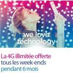 Bouygues Telecom : en janvier, 4G illimitée tous les WE pendant 6 mois