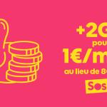 Sosh : l'option +2Go d'Internet 4G à 1€/mois jusqu'au 6 janvier