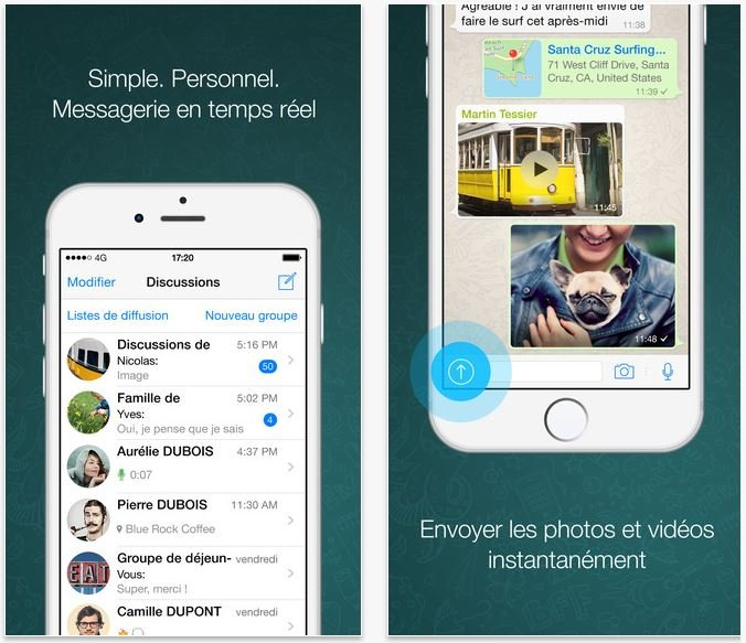 WhatsApp iOS 9 - WhatsApp supporte le 3D Touch dans les discussions (iPhone 6S)