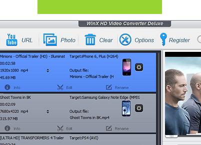 WinX HD Video Converter Deluxe - WinX HD Video Converter Deluxe : un convertisseur de vidéo haute définition (Windows)