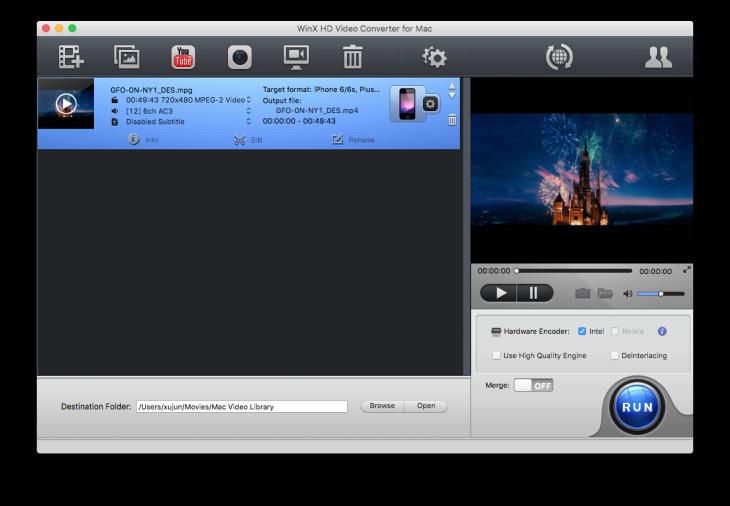 WinX HD Video Converter : convertir des vidéos en haute définition sur Mac