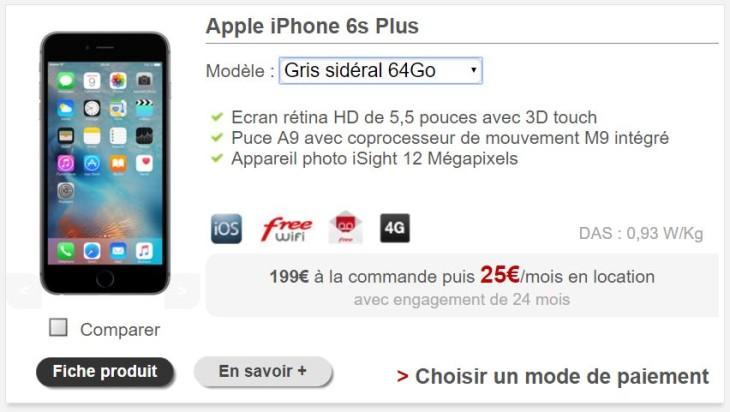 Free Mobile permet enfin de louer un iPhone 6S Plus