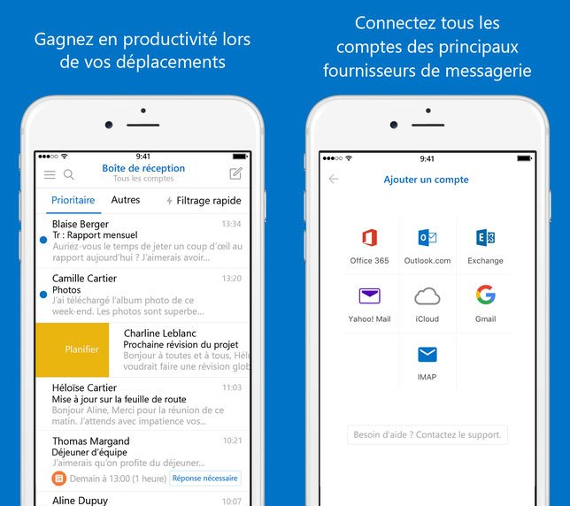 Microsoft Outlook (iOS) – Email et calendrier passe en version 2.0