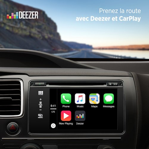 Deezer compatible avec le 3D Touch (iPhone 6S) et CarPlay